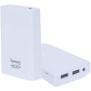 Quantum QHMPL Power Bank Qhm 6600 mAh 2 USB Powerbank Mfg. Warranty