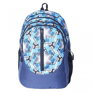 Navigator Water Proof Funky Multi-Print Blue Unisex Laptop Backpack / Casual Backpack