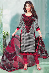 Sarees Trendz Fashion Black Printed Crepe Semi- Stitched Salwar Suit