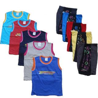 CH Fashions Kavya Cotton Multicolour Top  bottom set (Pack Of 5)