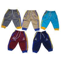 Kavya Fashion Poly Cotton Multicolour Rib and Capri (Pack of 5)