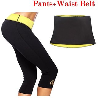 ed42dc99b3691 Buy Whinsy Hot Waist Shaper Pant + Belt Combo Online - Get 77% Off
