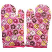 Arapale Multi Colour Cotton Micro Oven Hand Glove