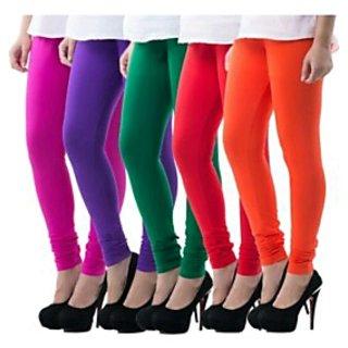 women fancy 100% cotton leggings pack of 2