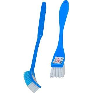 Home Glare Combo Of Sink Brush Toilet Brush Oval Blue