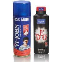 Shave Foam 400GM For Hard Skin & VIJOHN Deo Night