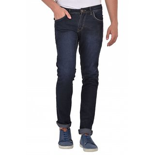 Stylox Men's Black Slim Fit Jeans
