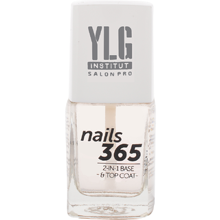 YLG Nails365 2 in 1 Base  Top Coat, Nail Care, 9ml