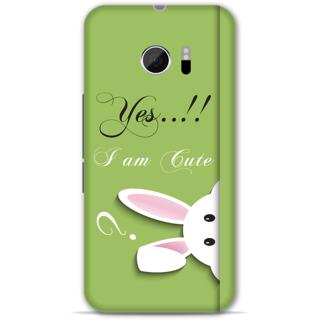 Htc 10 Designer Hard-Plastic Phone Cover from Print Opera -Yes i am cute