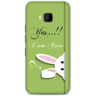 HTC one M9 Designer Hard-Plastic Phone Cover from Print Opera -Yes i am cute