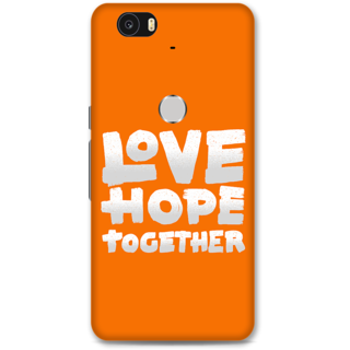 Google Nexus 6p Designer Hard-Plastic Phone Cover from Print Opera -Love Hope Together