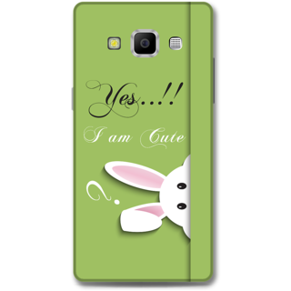 Samsung Galaxy A7 2015 Designer Hard-Plastic Phone Cover from Print Opera -Yes i am cute