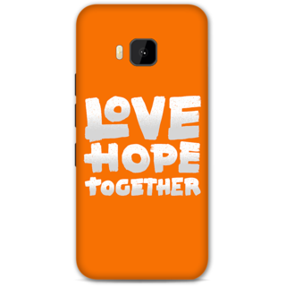 HTC one M9 Designer Hard-Plastic Phone Cover from Print Opera -Love Hope Together