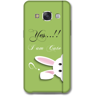 Samsung Galaxy E7 Designer Hard-Plastic Phone Cover from Print Opera -Yes i am cute