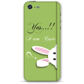IPhone 5-5s Designer Hard-Plastic Phone Cover from Print Opera -Yes i am cute