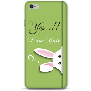 IPhone 6-6s Plus Designer Hard-Plastic Phone Cover from Print Opera -Yes i am cute