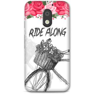 Moto E3 power Designer Hard-Plastic Phone Cover from Print Opera -Ride along