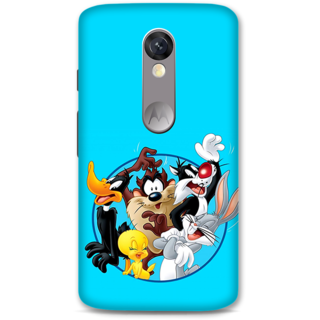 Moto X Force Designer Hard-Plastic Phone Cover from Print Opera -Cartoons