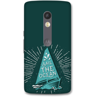 Moto X Play Designer Hard-Plastic Phone Cover from Print Opera -Sail The Ocean