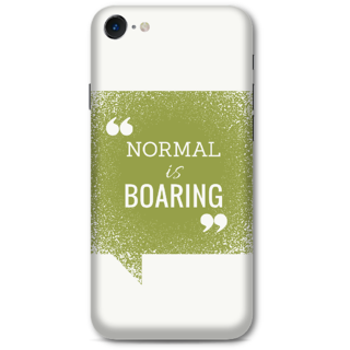 Iphone 7 Designer Hard-Plastic Phone Cover from Print Opera -Normal is boaring