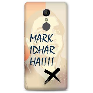 Gionee S6S Designer Hard-Plastic Phone Cover from Print Opera -Mark idhar hai