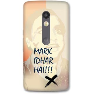 Moto X Play Designer Hard-Plastic Phone Cover from Print Opera -Mark idhar hai