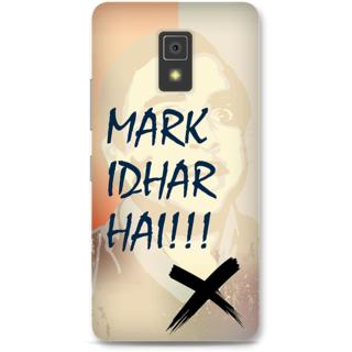 Lenovo A6600 Designer Hard-Plastic Phone Cover from Print Opera -Mark idhar hai
