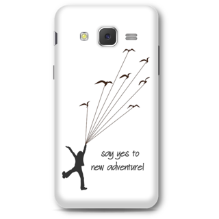 Samsung Galaxy J5 2015 Designer Hard-Plastic Phone Cover from Print Opera -Say yes to new adventure