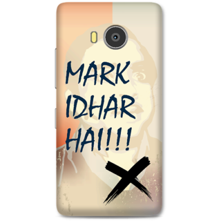 Lenovo A7700 Designer Hard-Plastic Phone Cover from Print Opera -Mark idhar hai