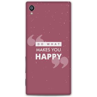 Sony Xperia Z5 Premium Designer Hard-Plastic Phone Cover from Print Opera -Do what makes you happy