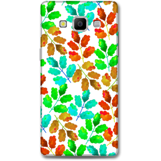 Samsung Galaxy A7 2015 Designer Hard-Plastic Phone Cover from Print Opera -Colorsful leaves