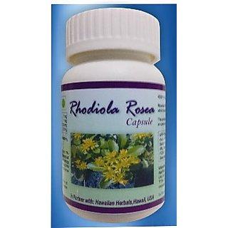 Hawaiian Herbal, Hawaii,USA -  RHODIOLA ROSEA CAPSULES - 60 Capsules (Buy any Healthcare Supplement  Get the Same Drops Free)