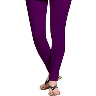 Cotton Churidar Women's Leggings-Purple