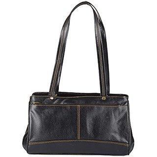Genuine Leather Womens Handbag (Black)