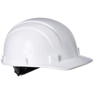 Safety Helmet with Ratchet, White