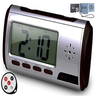 Spy Digital Table Clock with Audio  Video Camera Watch