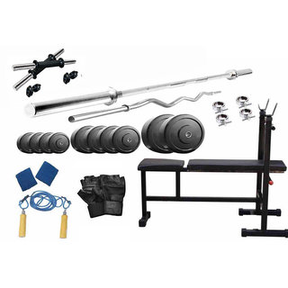 Protoner 22 Kgs PVC weight with 3 in 1 Bench home gym package