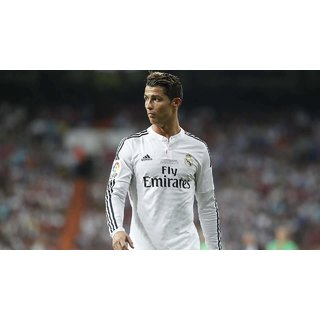 MYIMAGE Cool Cristiano Ronaldo football player Poster (Paper Print, 12x18 inch)