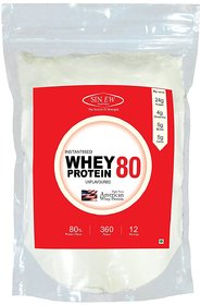 Sinew Nutrition Raw Whey Protein Concentrate 79%, 360 g Whey Protein (360 g, Unflavored)