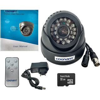 COGNANT TV-OUT BNC CCTV Camera With 32 GB Memory Card