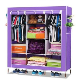 3 Door 88130 Fancy Portable Foldable Closet Wardrobe Cabinet Portable Multipurpose Storage Organiser DIY