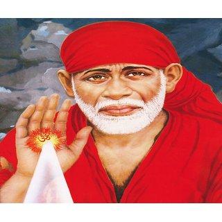 MYIMAGE Lord Shirdi Sai Baba Beautiful Poster (Paper Print, 12x18 inch)