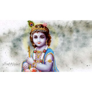 MYIMAGE Lord Shree Krishna Beautiful Poster (Paper Print, 12x18 inch)