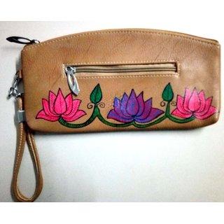 Madhubani Flower Painting Bag .MP2503