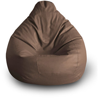 Home Story Classic Bean Bag XXL Size Brown Cover Only