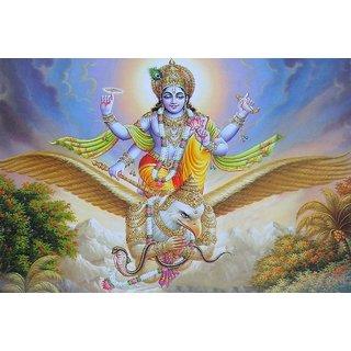 MYIMAGE Lord Vishnu Beautiful Poster (Paper Print, 12x18 inch)