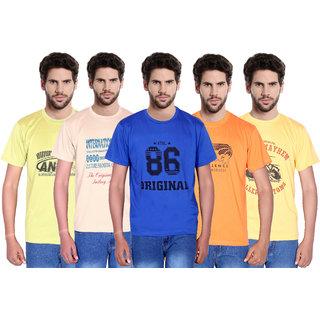 Balino London Men's Round Neck  T-Shirt Pack of 5