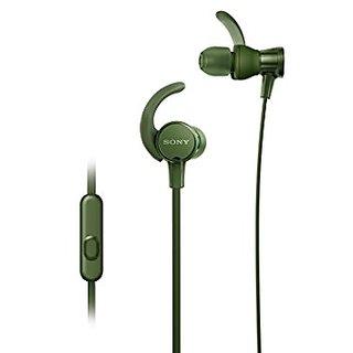 Sony XB510AS EXTRA BASS Sports In-ear Headphones With Mic ( Green ) With 1Yaer Sony India Warranty