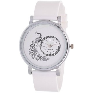 new brand white more analog watch for girls