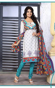 Urishilla Summer Special Pure Cotton White Printed Suit (Unstitched)